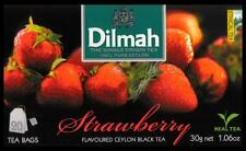 DILMAH Tee - Strawberry  Flavoured Black Ceylon Tea  20 Teebeutel