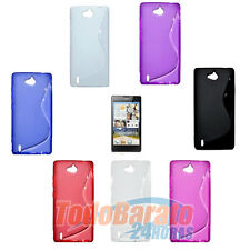 Funda gel TPU S-LINE + 1 protector Orange Yumo Huawei G740