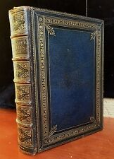 Henry Longfellow, COMPLETE POETICAL WORKS, 1871 Morrocan Gilt Boards ILLUSTRATED