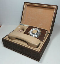 Vintage Western Electric Telephone in Wooden Box