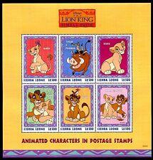 Sierra Leone 2124-5, MNH, Disney characters. Lion King Kiara & Kovu 1998. x14628
