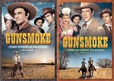 Gunsmoke Complete Fourth Season 4 Four Volume 1 & 2 DVD Set Series TV Show Box R