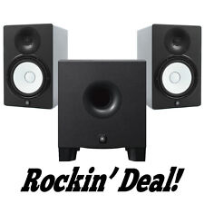 Yamaha HS5 Studio Monitor Speaker PAIR w/ HS8S Subwoofer HS-5 + Hs-8s Sub Bundle
