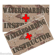 WATERBOARDING INSRUCTOR TOOLBOX HELMET BUMPER PACK OF 4 STICKER DECAL USA MADE