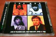 THE WHO Live at Filmore East , New York City 05.april.1968 ! UNOFFICIAL SRS REC