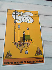 "YES Concert Poster HOWE SQUIRE WHITE San Diego House of Blues 11""x17"""