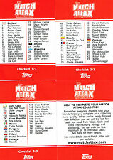 MATCH ATTAX - England 2006 - NEW 3 CHECKLISTS + HOW TO PLAY - Topps World Cup 06