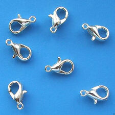 100 x 12mm Silver Plated Lobster Clasps