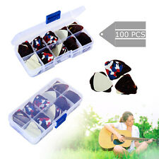 100pcs Electric Guitar Acoustic Electric Guitar Pick Plectrum Assorted thickness