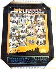 Pittsburgh Steelers  2005 Super Bowl XL Plaque Bettis Polamalu Hines 13X11