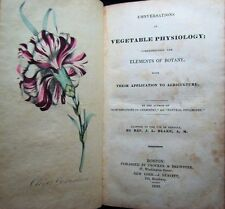 Rare 1830 Botanical Herbal Vegetable Physiology Botany Color Plates Book Plants