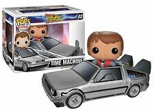 Funko Pop Rides Back To The Future: Delorean Time Machine & Marty McFly Figures