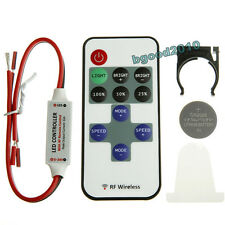 Wireless 12V Remote Dimmer Switch Controller Mini LED Dimmer Strip Light RF