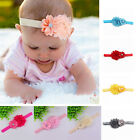 1X Baby Girls Chiffon Pear Headband Hairbow Head Wear Flower Hairband Fashion