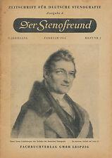 Der Stenofreund 2 54 1954 Zeitschrift Deutsche Stenografie DDR Leipzig Steno