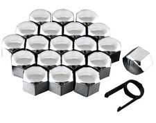 Set 20 17mm Chrome Car Caps Bolts Covers Wheel Nuts For Vauxhall Astra H