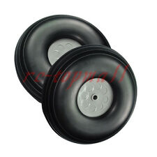 "1 pair of 4.5"" /114.3mm RC Aircraft PU wheel with Plastic Hub"