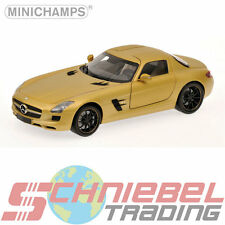 2010 Mercedes-Benz SLS AMG [Minichamps 100039024] Gold, 1:18 Die Cast