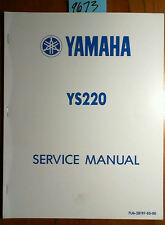 Yamaha YS220 YS-220 Snowblower Snowthrower Service Manual 7U6-28197-E0-00