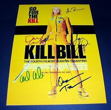 "TARANTINO KILL BILL VOL.1 CASTX5 PP SIGNED POSTER 12""X8"" inch UMA THURMAN"