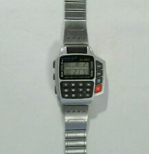Vintage SL-083 Calculator Remote Control Watch with Stainless Steel Strap