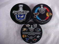 2016 NHL Stanley Cup Playoffs St. Louis Blues Hockey Three Puck Souvenir Pack