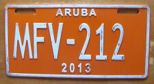 Aruba 2013 MOTORCYCLE License Plate NICE QUALITY # MFV-212