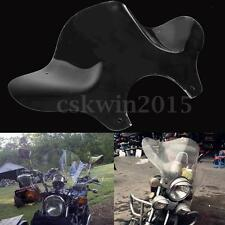 Universal Motorcycle Clear Windshield Windscreen w/ Mounting Kit For Cruiser