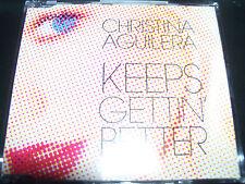 Christina Aguilera Keeps Getting Better Rare Australian CD Single - Like New
