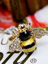 Lovely Bee Gold Rhinestone Ring For Young Children Jewelry Gift Adjustable FREE