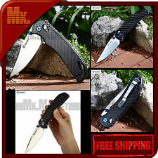 Authentic GANZO G753-1 CF 440C Steel | Carbon Fiber Handle | Folding Knife G7531