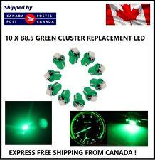 10x T5 B8.5D 5050 1SMD Green LED Bulbs Dashboard Cluster Gauge Side Light DC12V
