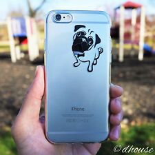 MADE IN JAPAN Soft Clear TPU Case Cute Pug Dog design for iPhone 6 & iPhone 6s