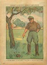 Caricature Politique Anti-Nazi Dr Goebbels l'Arbre à son Fruit 1937 ILLUSTRATION