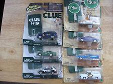 "Lot of 7 Hasbro Johnny Lightning ""Clue"" series vehicles"