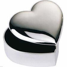 Beautiful Silver Plated Heart Shaped Trinket Box