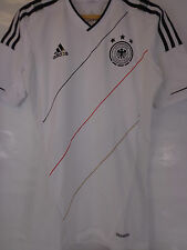 ADIDAS GERMANY PLAYER ISSUE WHITE FOOTBALL SHIRT IN CARRY CASE BNWT M MEDIUM