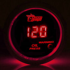 "2"" 52mm Black Shell Car Motor Digital Red LED Oil Press Pressure Gauge Meter"