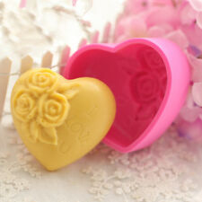 3D Silicone Loving Heart Rose Flower Mold Sugarcraft Cake Decorating Mould Tool