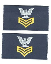 USCG Rate:  Petty Officer 1st Class Cloth Collar Insignia (pair)