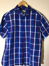WESC men's Large Button-up shirt Designer Short Sleeve