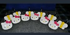 Hello Kitty Shower Curtain Hooks 12 Pcs by Sanrio Porcelain Metal Bathroom Decor