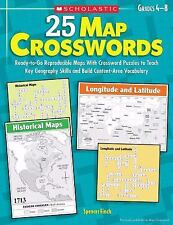 25 Map Crosswords: Ready-to-Go Reproducible Maps With Crossword Puzzles to Teach