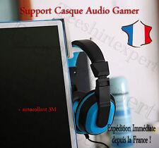 Support Casque Ecouteur Cintre GAMER PC Moniteur Stand Présentoir Headset + 3M