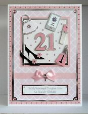 Personalised Birthday Card 18th/21st/30th/40th etc with box