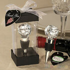 Beautiful Crystal Elegant Red Wine Bottle Stopper Reusable Vacuum Sealed Gift