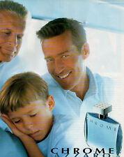 Publicité Advertising 1998  Parfum  CHROME AZZARO pour homme