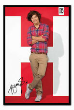 ONE DIRECTION HARRY POSTER FRAMED-1D MUSIC MEMORABILIA