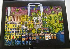 Friedensreich Hundertwasser Poster of The Third Skin Painting Made in 1982 14x11