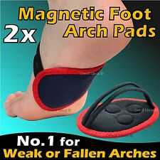 2x Magnetic Foot Arch Support *Weak & Fallen Arches Plantar Fasciitis Back Pain